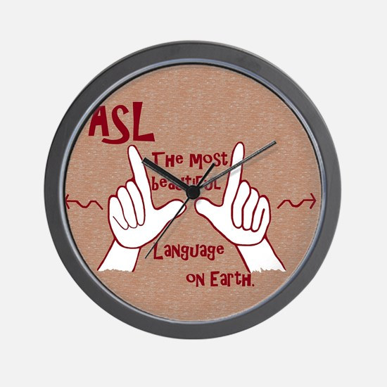 Cute American sign language Wall Clock