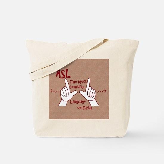 Funny Asl interpreter Tote Bag