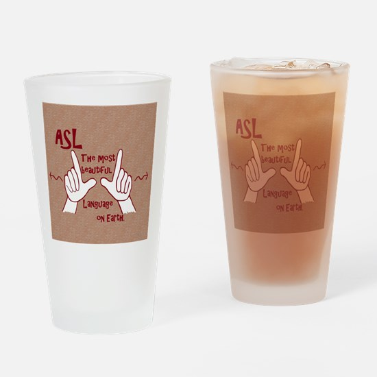 Funny American sign language Drinking Glass