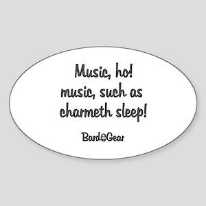 Music Oval Sticker