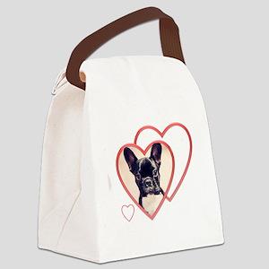 Valentine's French Bulldog Canvas Lunch Bag