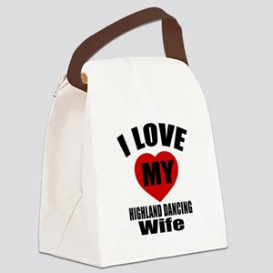 I love My Highland Wife Designs Canvas Lunch Bag