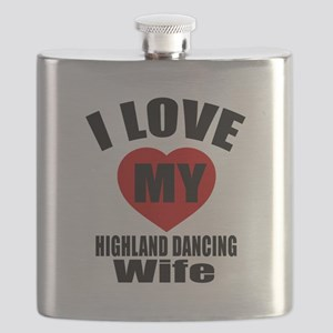 I love My Highland Wife Designs Flask