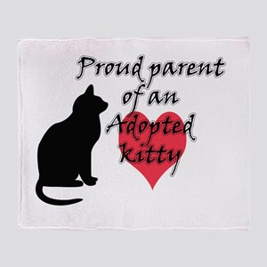 Adopted Kitty Throw Blanket