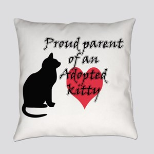 Adopted Kitty Everyday Pillow