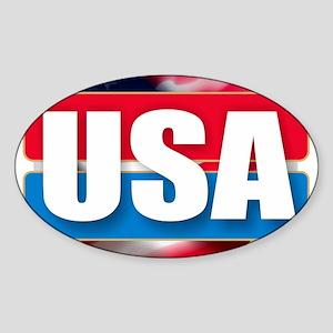 USA - Flag Design Sticker