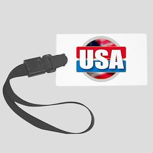 USA - Flag Design Large Luggage Tag