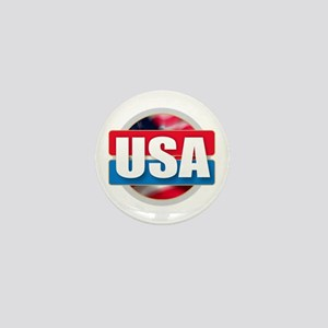 USA - Flag Design Mini Button