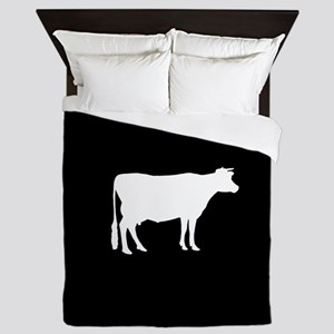 Cow: Black Queen Duvet