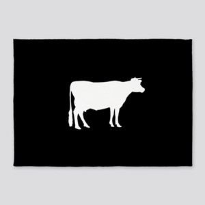 Cow: Black 5'x7'Area Rug