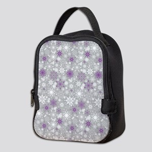 Amethyst Snowscape Neoprene Lunch Bag