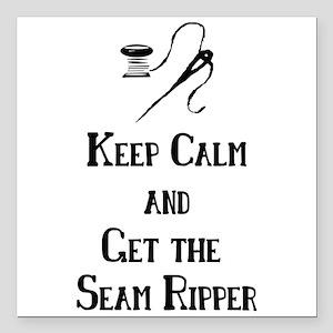 """Get the Seam Ripper Square Car Magnet 3"""" x 3"""""""