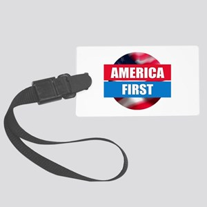 America First - Flag Design Large Luggage Tag