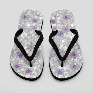 Amethyst Snowscape Flip Flops