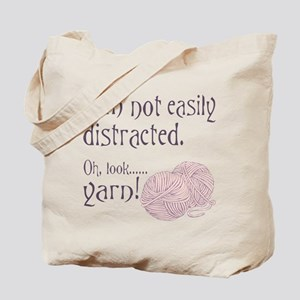 Distracted by yarn Pink Tote Bag