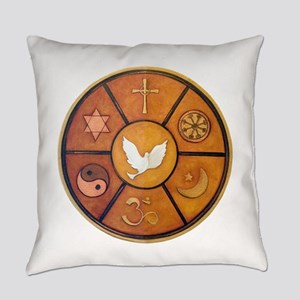 Interfaith Symbol - Everyday Pillow