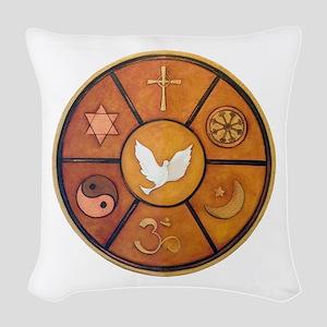Interfaith Symbol - Woven Throw Pillow
