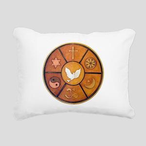 Interfaith Symbol - Rectangular Canvas Pillow