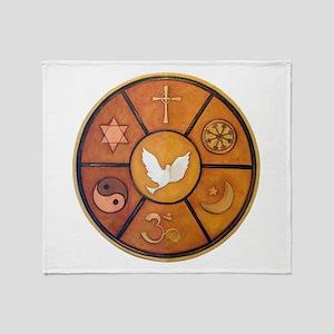 Interfaith Symbol - Throw Blanket