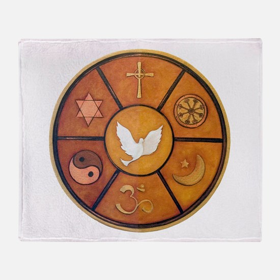 Interfaith Symbol - Throw Blanket