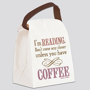 Books Reading Coffee Canvas Lunch Bag