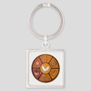 Interfaith Symbol - Square Keychain