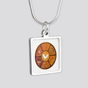 Interfaith Symbol - Silver Square Necklace