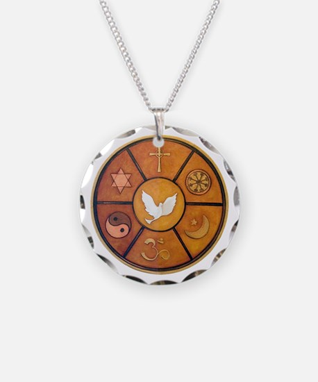 Interfaith Symbol - Necklace Circle Charm