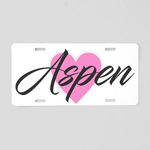 I Heart Aspen Aluminum License Plate