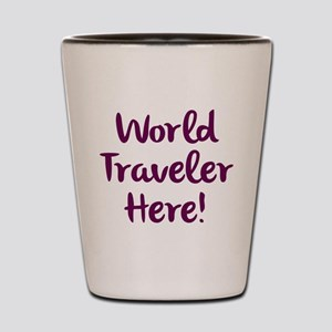 World Traveler Shot Glass
