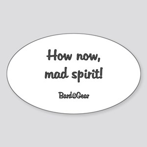 How Now Oval Sticker