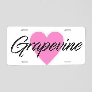 I Heart Grapevine Aluminum License Plate