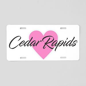 I Heart Cedar Rapids Aluminum License Plate