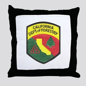 California Forestry Throw Pillow