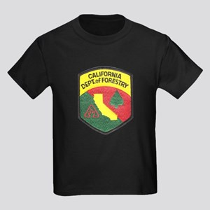 California Forestry Kids Dark T-Shirt