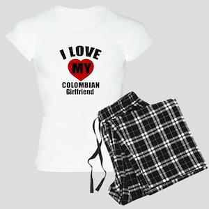 I Love My Colombian Girlfri Women's Light Pajamas