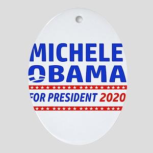 Michelle Obama 2020 designs Oval Ornament