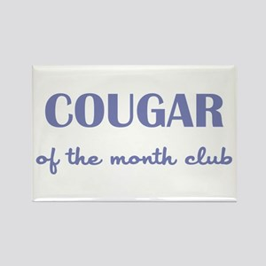 COUGAR of the MONTH CLUB Rectangle Magnet