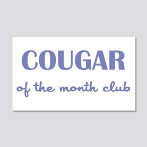 COUGAR of the MONTH CLUB 20x12 Wall Decal