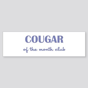 COUGAR of the MONTH CLUB Sticker (Bumper)