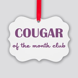 COUGAR of the MONTH CLUB Picture Ornament