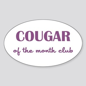 COUGAR of the MONTH CLUB Sticker (Oval)
