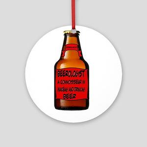 Beerologist Round Ornament