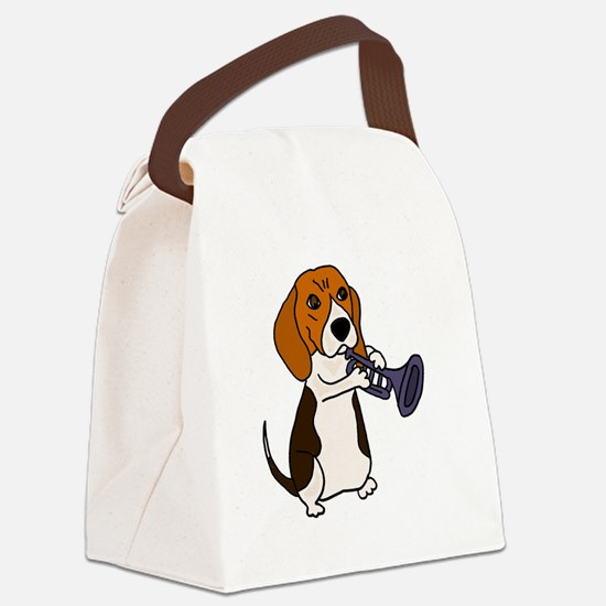 Funny Trumpeter Canvas Lunch Bag