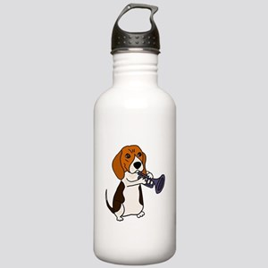 Beagle Playing Trumpet Stainless Water Bottle 1.0L