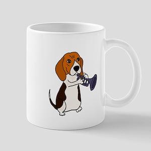 Beagle Playing Trumpet Mugs