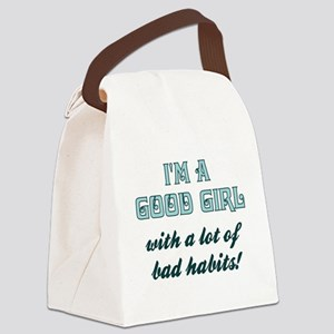 I'M A GOOD GIRL Canvas Lunch Bag