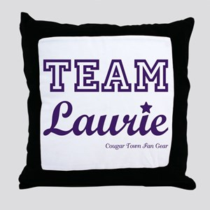 TEAM LAURIE Throw Pillow