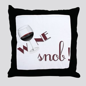 WINE SNOB Throw Pillow
