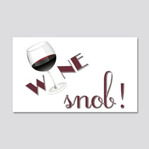 WINE SNOB 20x12 Wall Decal